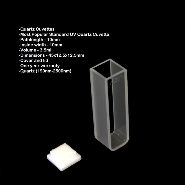 10mm Standard UV Quartz Cuvette - 3.5ml