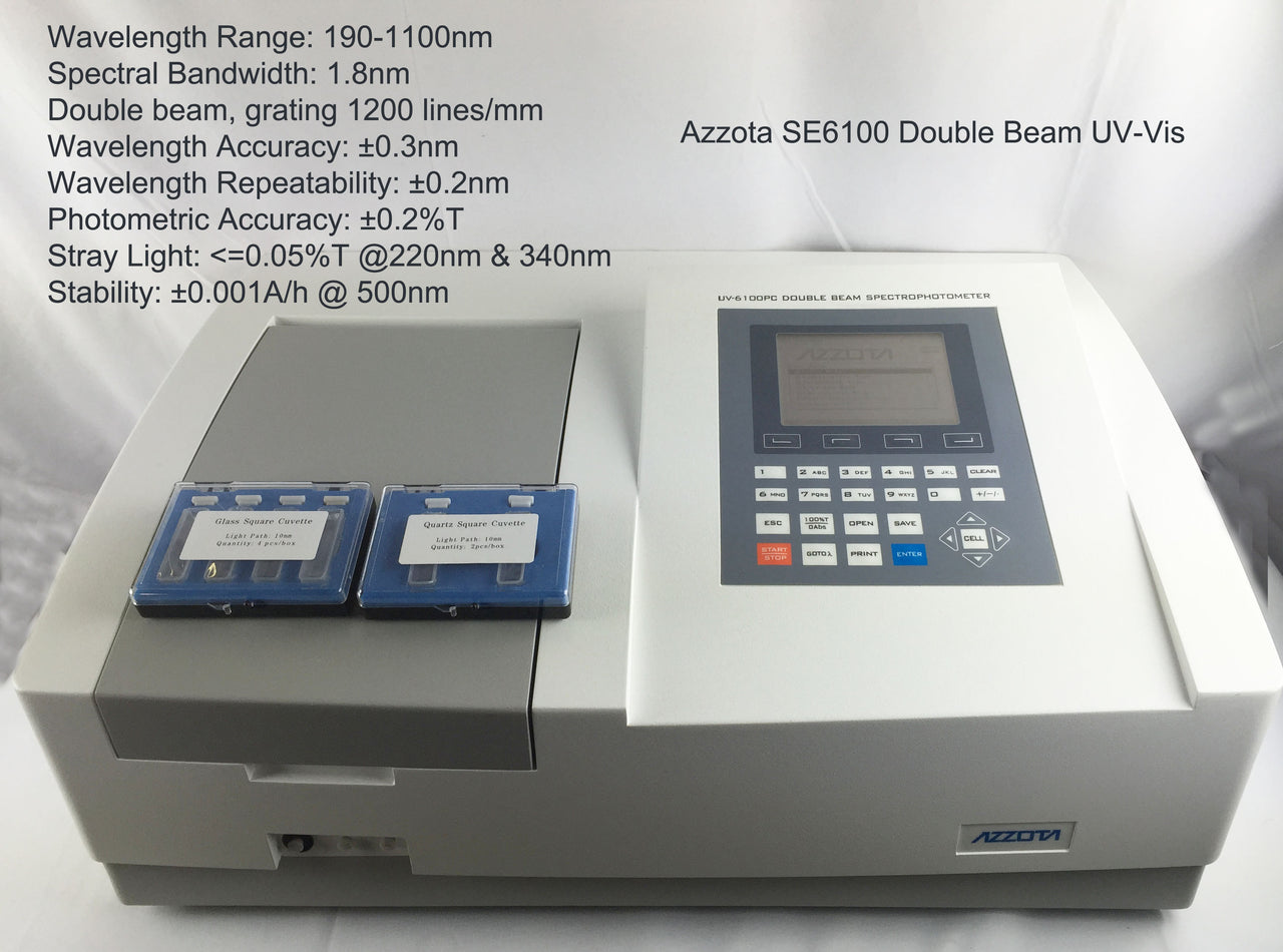 SE6000 Double Beam Scanning Stand-Alone UV-VIS Spectrophotometer