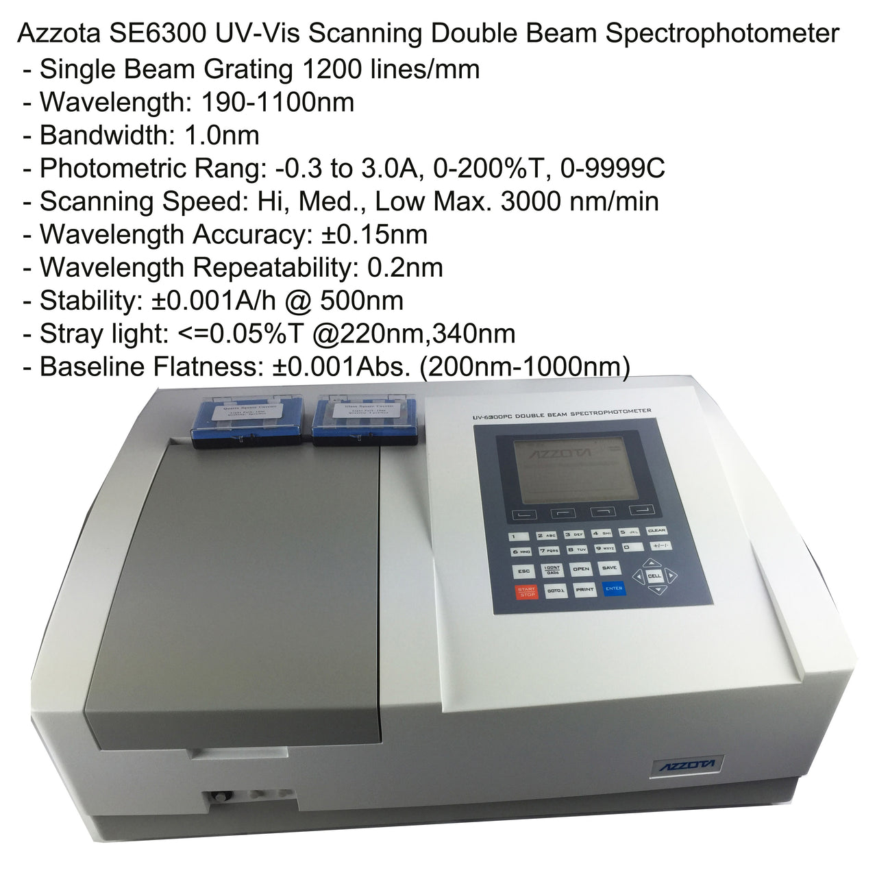 SE6300PC Double Beam Scanning UV-VIS Spectrophotometer with software