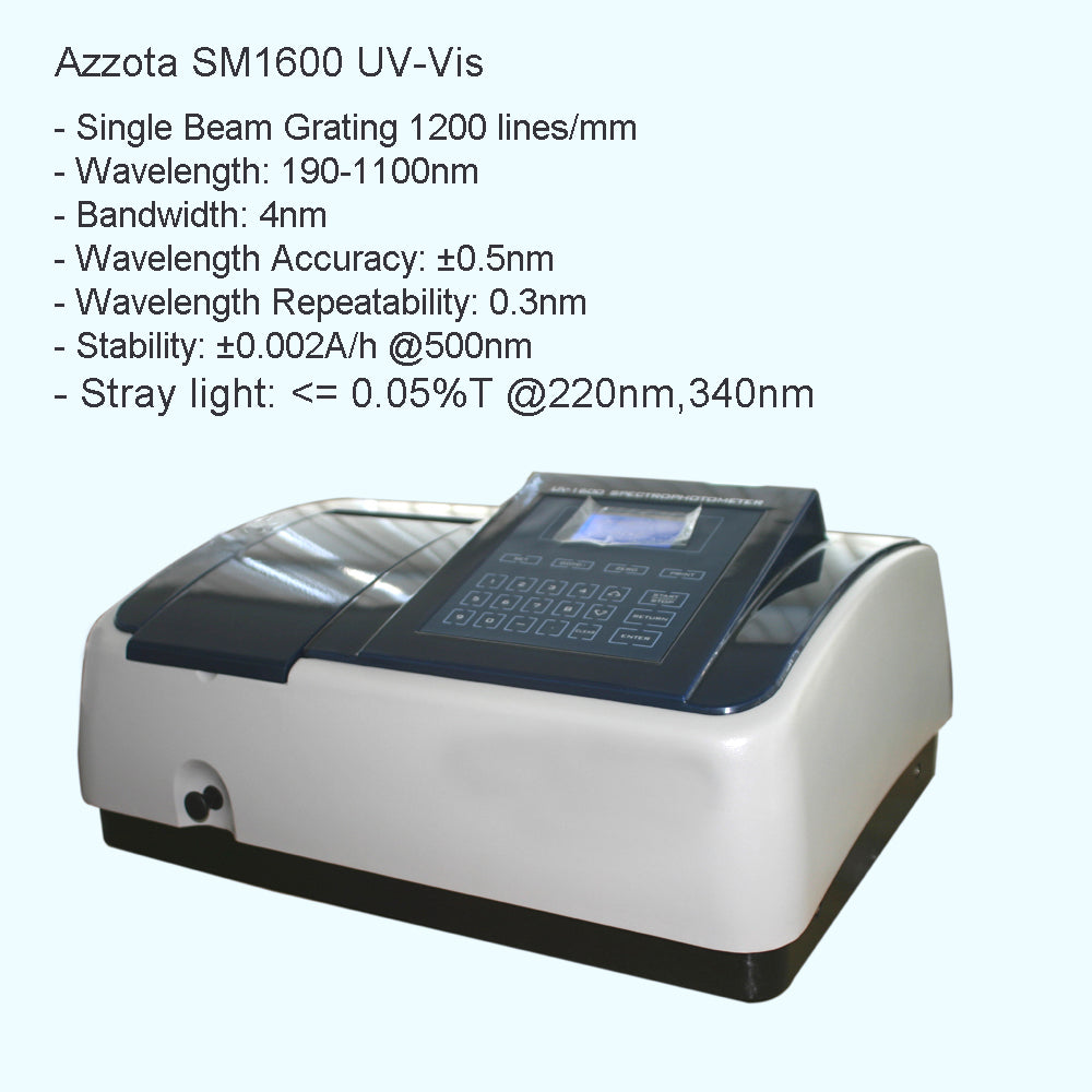 Azzota® Advanced UV-VIS Spectrophotometer, SM1600