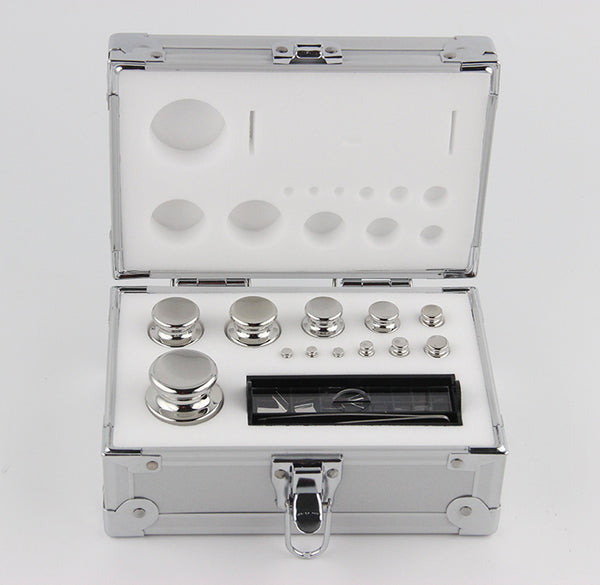 Azzota® Analytical Calibration Weights Set, ASTM Class F1, 0.001g-500g