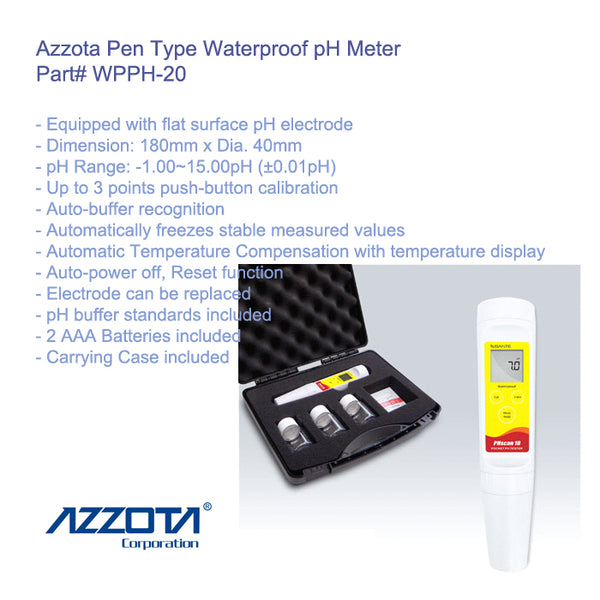 WPPH-20: Waterproof Pen Type pH Meter