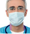 Blue PP Non-Woven Lab Protection Face Masks with Ear Loops 17.5cm*9cm