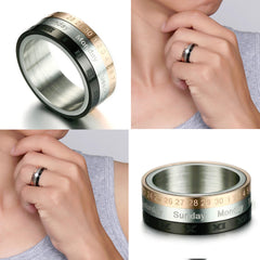 Rotatable Roman Numerals Ring