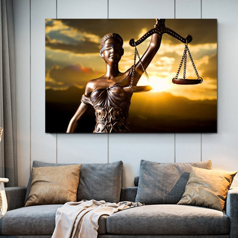 Themis Godin Van Justice Canvas Poster Home Decor