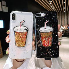 Cute Drink Bottle Bling Glitter Phone Cases - Sugarcola
