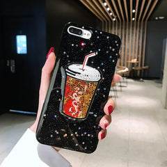 Cute Drink Bottle Bling Glitter Phone Cases
