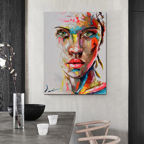 Abstract Women Face Portrait Picture Wall Art
