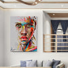 Image of Abstract Women Face Portrait Picture Wall Art