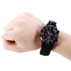 Tactical Outdoor Survival Bracelet Watch