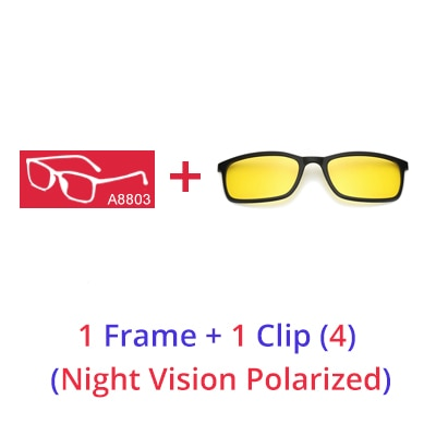 5 In 1 Magnetic Clip On Lens Swappable Glasses - Sugarcola