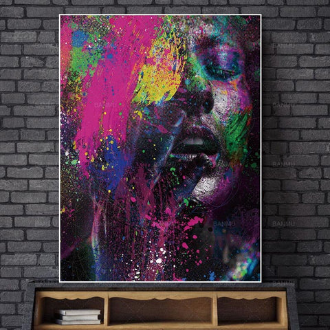 Abstract Picture Prints Figure