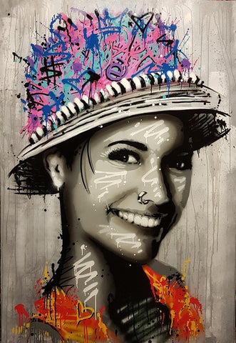 Art Pop Portrait Canvas Painting