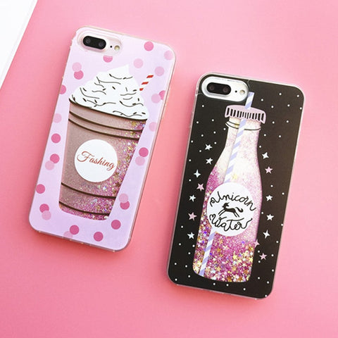 Liquid Moving Stars Icecream Bottle Phone Cover