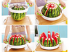 Image of using the watermelon slicer