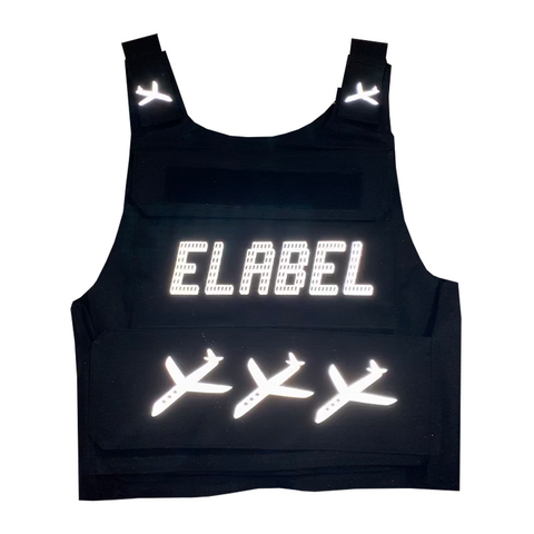 Elabel -Bullet proof vest - ( Reflective )