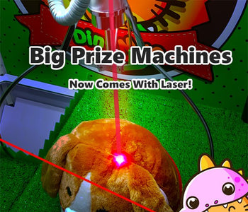 Our Big Prize Machines are now Laser Enabled!