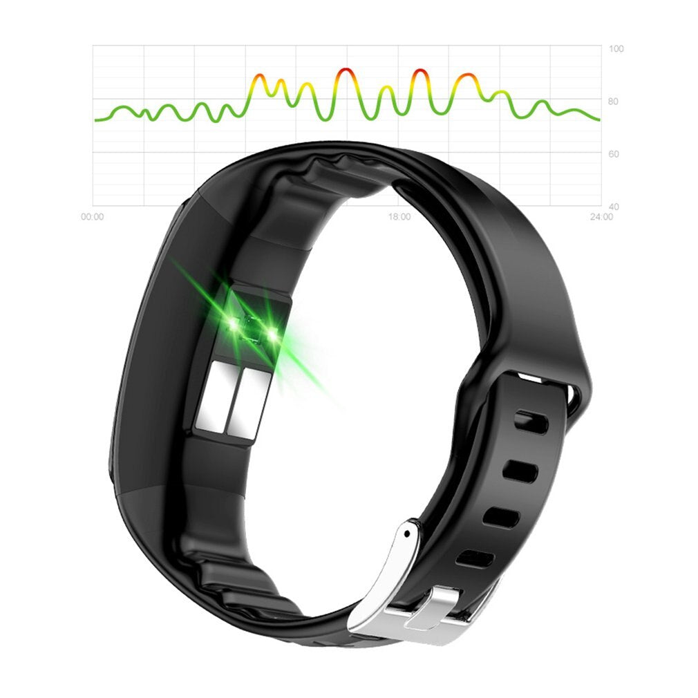 Cardio Plus Smart Fitness Bracelet / Sports Activity Tracker / Clock / Blood Pressure Measuring Watch
