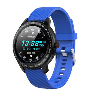 L9 Full Round Touch Screen Stainless Steel Bezel IP68 Waterproof Smart Watch