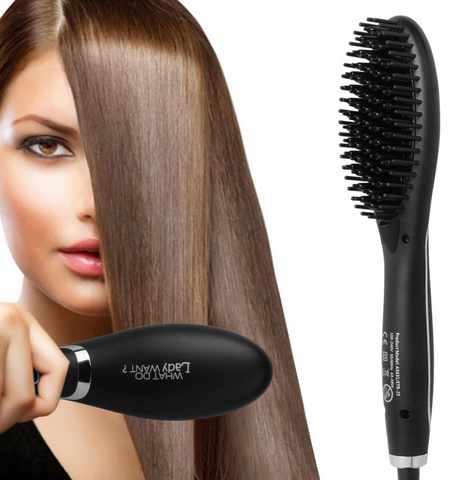 Ceramic Hair Straightening Brush