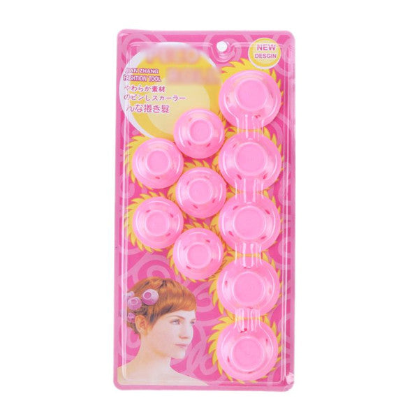 Mushroom Hairstyle Silicone No-Heat Curlers