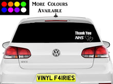 Load image into Gallery viewer, Thank You NHS Car Vinyl Sticker