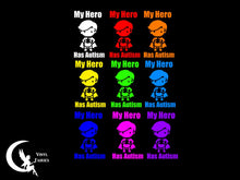 Load image into Gallery viewer, My hero has autism car window sticker