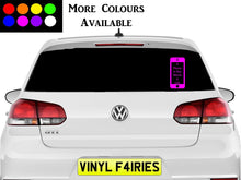 Load image into Gallery viewer, Mobile phone awareness car sticker