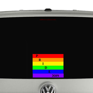 Pride 2019 coloured car vinyl transfer sticker