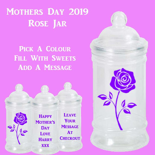 Mother's Day Jar Rose