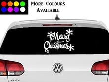 Load image into Gallery viewer, Merry Christmas car window vinyl sticker christmas decoration.