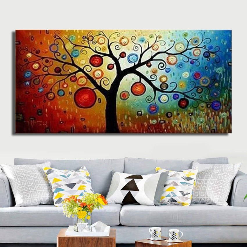 Money tree canvas wall art oil painting | Unframed