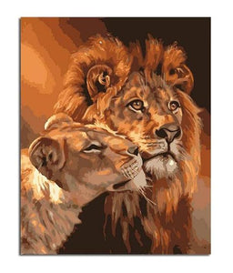 Lion Kings | By Numbers Kits DIY Coloring Oil Drawing Paint