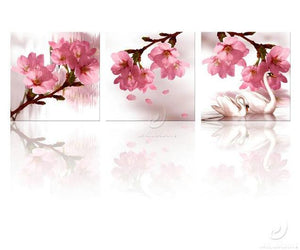 Modern Style Flowers Display   | 3 Panel Wall Art Poster