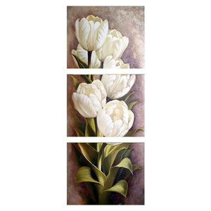3 Piece Tulip Flower Painting | Spray painting