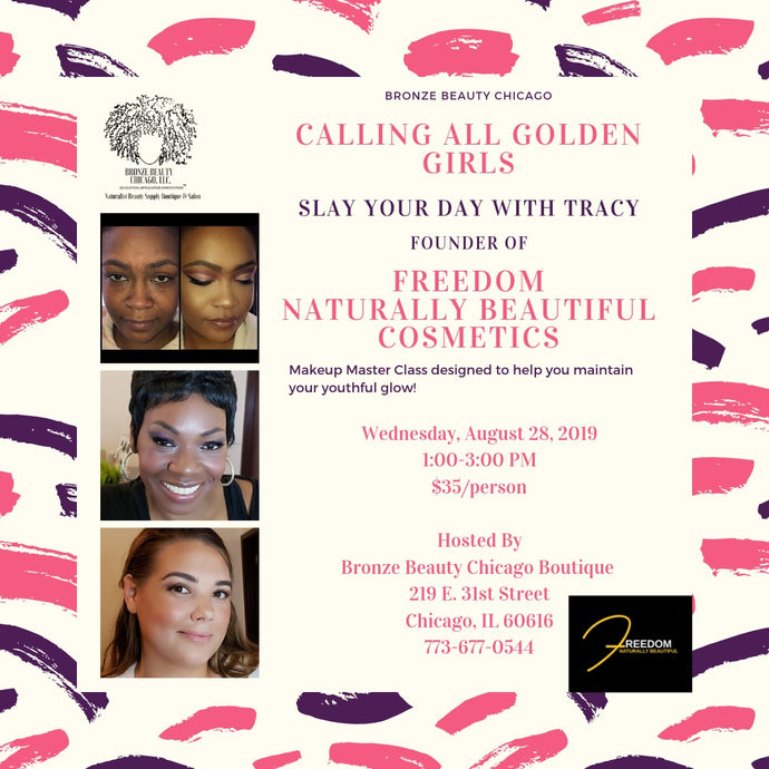 Golden Girls Makeup Master Class with Tracy of Freedom Naturally Beautiful Cosmetics