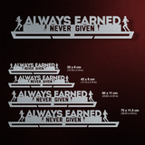 Always Earned Never Given Éremtartó NŐI-Éremakasztó Victory Hangers®