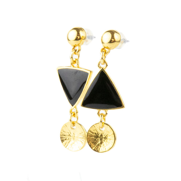 Pendientes Triangle Black