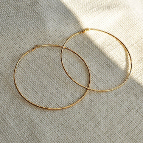 big gold hoop earrings