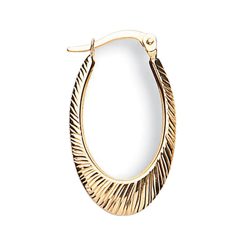 oval gold hoop earrings