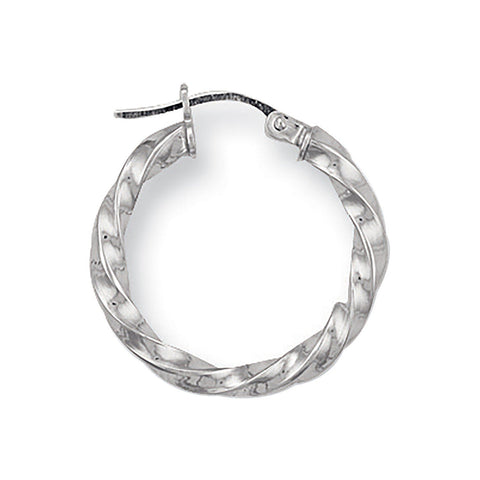 small white gold hoops