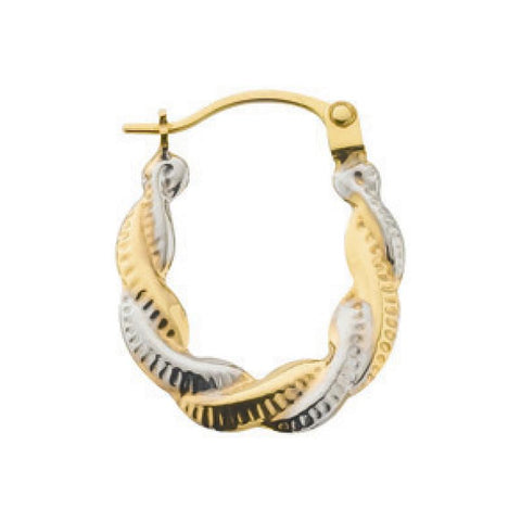 white gold creole earrings