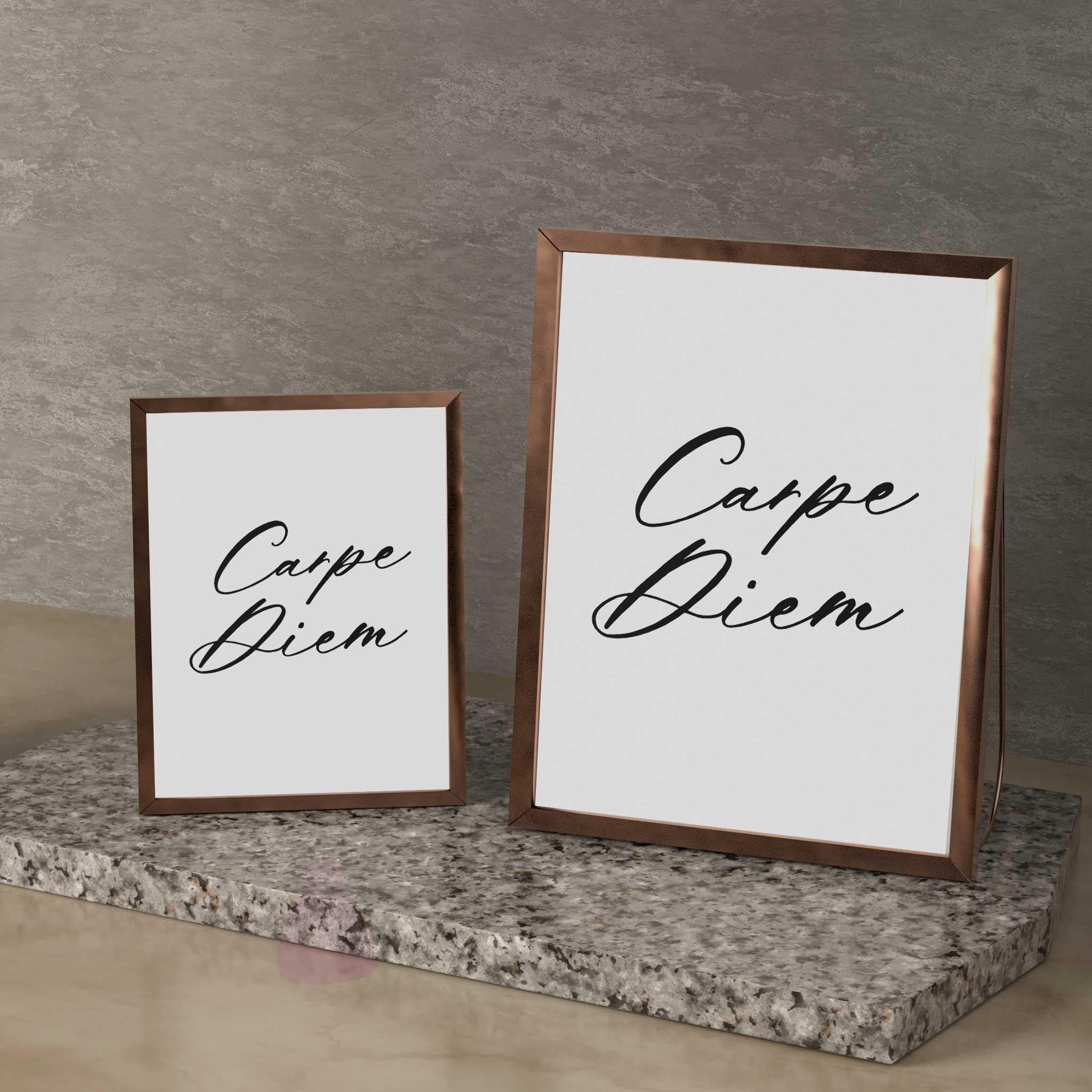 carpe diem wall art print poster