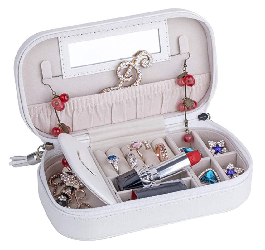 Valerie white travel jewellery case