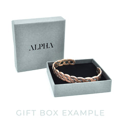 Mens magnetic copper bracelet in gift box