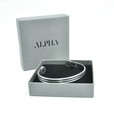 Axle Pewter Torque magnetic bangle | ALPHA™ mens