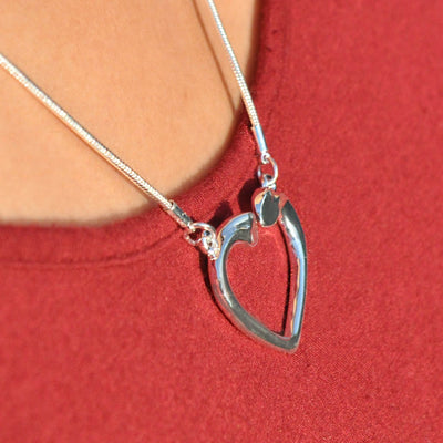 Alma Silver Heart Necklace