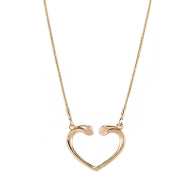 Alma Gold Heart Necklace