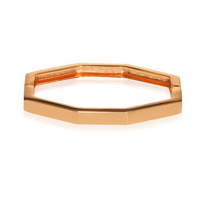 Ava Geometric Gold bangle