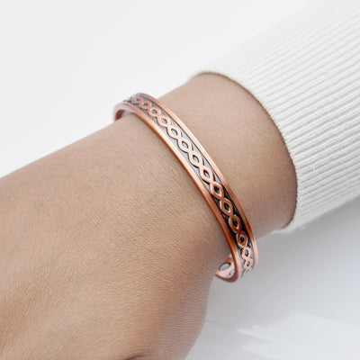 unisex magnetic copper bangle